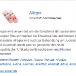 Allegra 30 mg (Fexofenadine)