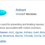 Antivert 25 mg (Meclizine)