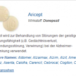 Aricept 5 mg (Donepezil)