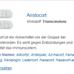 Aristocort 4 mg (Triamcinolone)