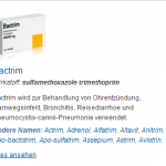 Bactrim 480 mg (Sulfamethoxazole trimethoprim)