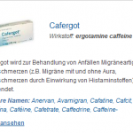 Cafergot 100 mg (Ergotamine caffeine)