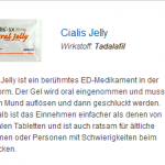 Cialis Jelly 20 mg (Tadalafil)