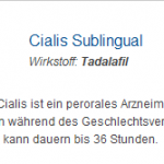 Cialis Sublingual 20 mg (Tadalafil)