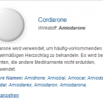 Cordarone 100 mg (Amiodarone)