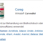 Coreg 25 mg (Carvedilol)