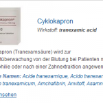 Cyklokapron 500 mg (Tranexamic acid)