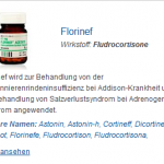 Florinef 0.1 mg (Fludrocortisone)