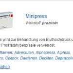Minipress 2 mg (Prazosin)