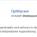 Ophthacare 10 ml (Meldespumatum)